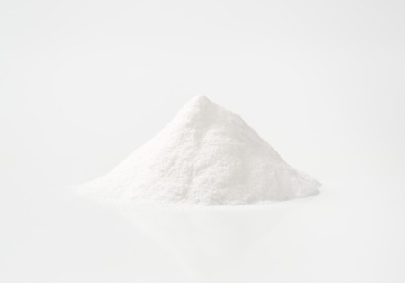 sodium bicarbonate: heap of baking soda (sodium bicarbonate)