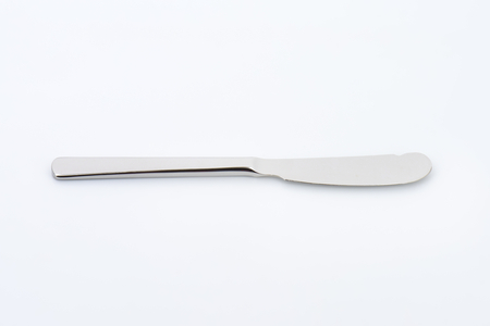 serving utensil: table knife with dull edge and rounded point Stock Photo