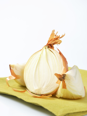 halved  half: fresh onion, one half and two wedges