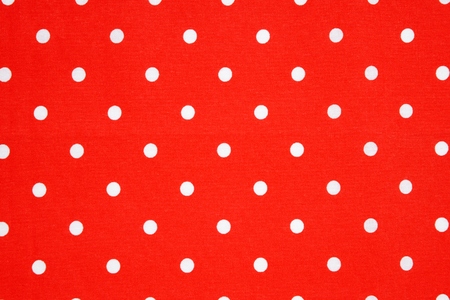 polka dot fabric: detail of red polka dot fabric