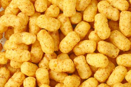 puffs: detail of crunchy peanut puffs