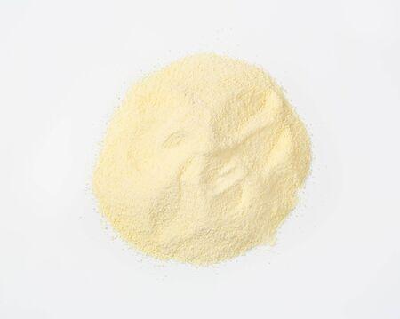 durum wheat semolina: Heap of durum wheat semolina flour
