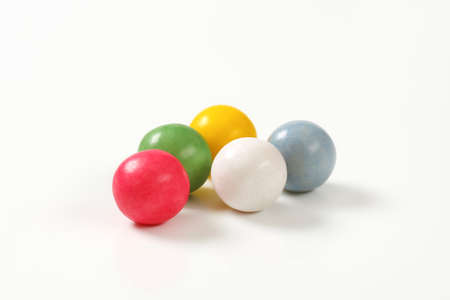 bubble gum: candy coated chocolate balls or bubble gum balls
