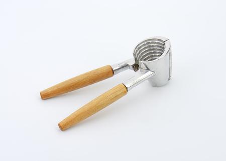 nut cracker: Funnel-shaped nutcracker designed for cracking walnuts Stock Photo