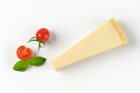 cherry: wedge of parmesan cheese and cherry tomatoes