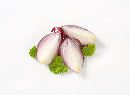 onion red: rojo cebolla cortada en trozos