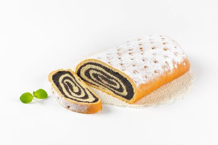 poppy seed: roll of sweet yeast bread filled with poppy seed paste