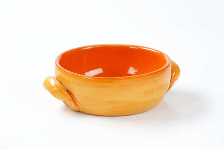 serving dish: glazed pottery baking and serving dish without lid