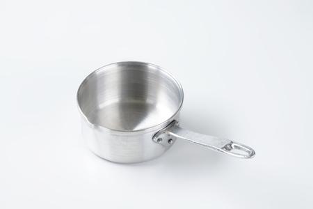 saucepan: empty saucepan with pouring spout Stock Photo