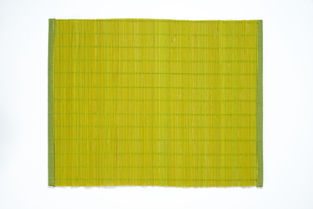 place mat: green bamboo place mat on white background