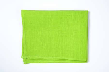 place mat: green cotton napkin or place mat