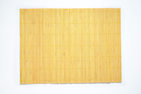 bamboo place mat on white background