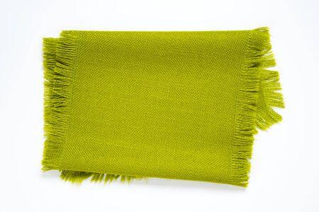 fringe: green cotton table runner with fringe Stock Photo