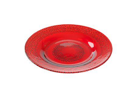 ruby red: Ruby red glass bubble plate