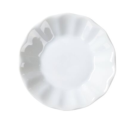 fluted: Small fluted white snack bowl