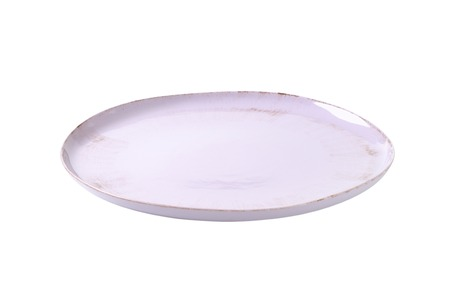 serving dish: Round lilac color serving dish