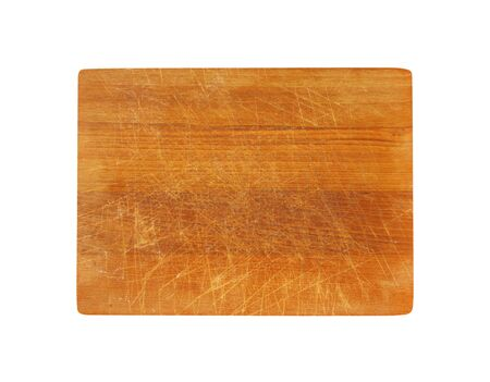 rectangle: Old rectangle wooden cutting board