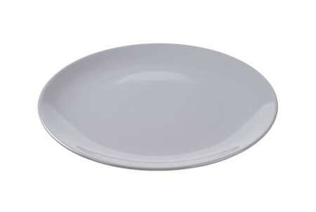 rimless: empty grey dinner plate without rim