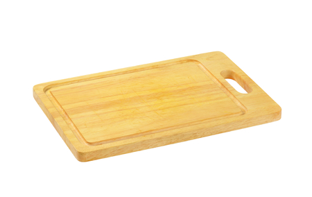 Rectangle wooden cutting board with juice well