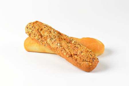 crusty french bread: fresh demi baguettes - white and whole grain