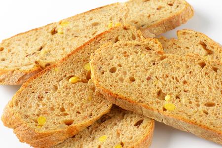 whole grain: detail of sliced whole grain bread Stock Photo