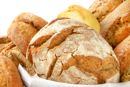 crusty: detail of crusty bread loaf Stock Photo