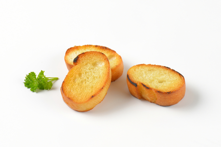 french roll: pan fried slices of French bread roll