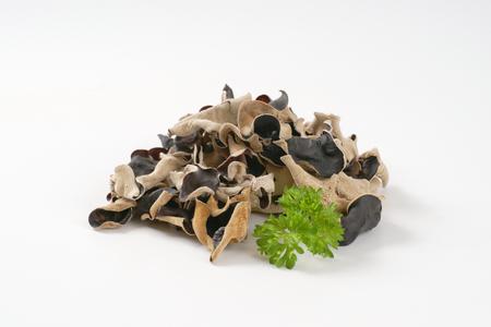 air dried: Heap of air dried wood ear mushrooms