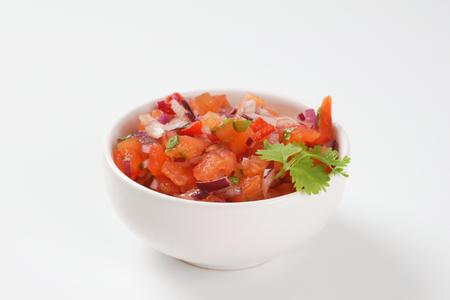 bowl of pico de gallo, also called salsa fresca