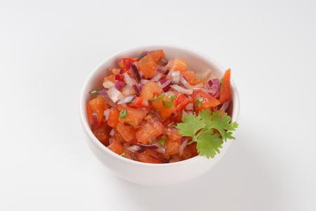 gallo: bowl of pico de gallo, also called salsa fresca