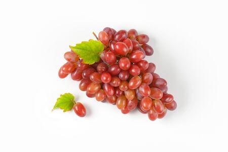 white grape: bunch of ripe red grapes