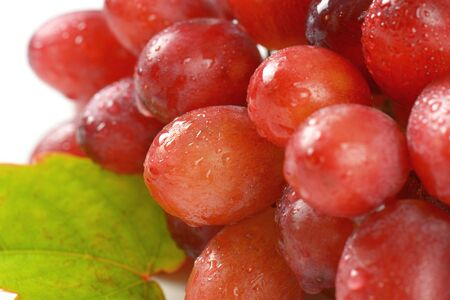 detail of bunch: detail of bunch of washed red grapes