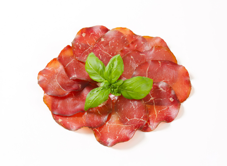 Thin slices of smoked marinated beef