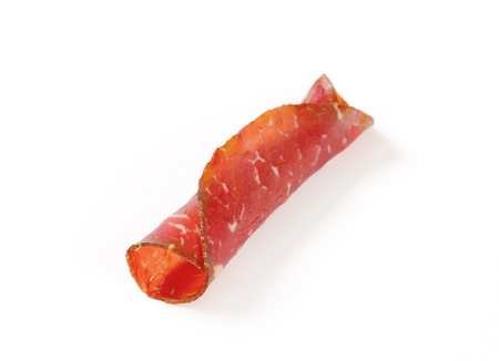appenzeller: Slice of smoked marinated beef - rolled up
