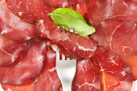 appenzeller: Thin slices of smoked marinated beef