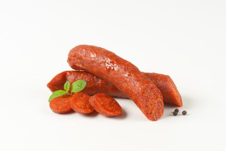 Csabai kolbasz - Hungarian smoked pork sausages spiced with paprika