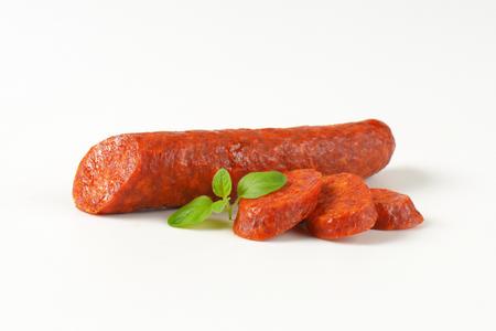pork sausage: Smoked pork sausage spiced with paprika