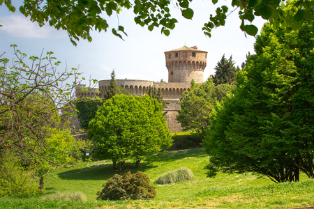 fortezza: Medicean Fortress in Volterra, Tuscany, Italy Editorial