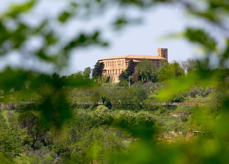 volterra: Tuscan rural landscape near Volterra in Italy
