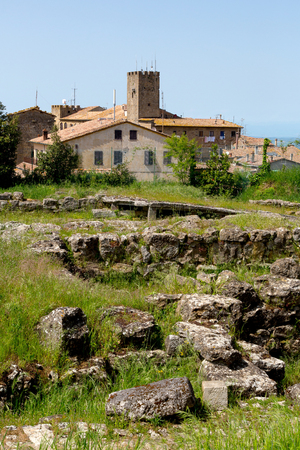 etrurian: Etruscan ruins in Volterra, Tuscany, Italy