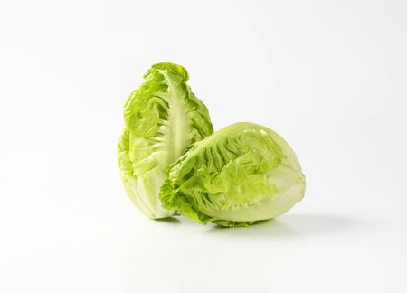 Two fresh little gem lettuce heads Zdjęcie Seryjne