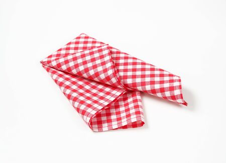 Red And White Checkered Table Linen On White Background Stock Photo    67054325