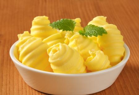 curls: Bowl of fresh butter curls Stock Photo