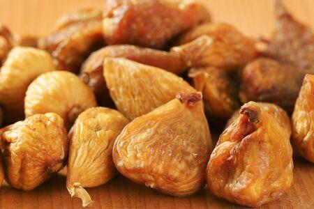 sun dried: detail of sun dried figs Stock Photo