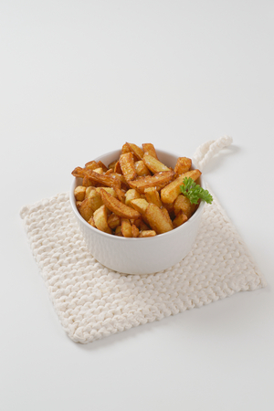 bowl of fried chipped potatoes