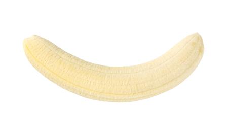 pelées banane sur fond blanc