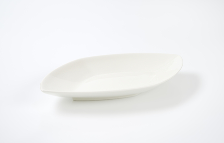 diamond shaped: empty diamond shaped white dinner plate
