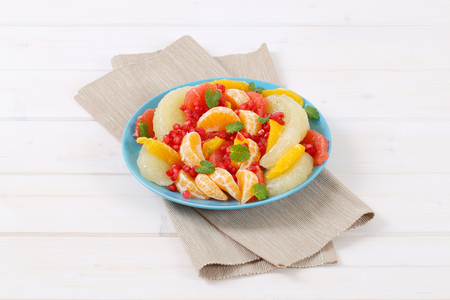 Citrus fruit salad with pomegranate seeds