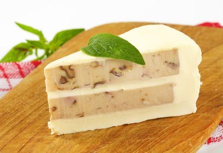 Savory cheese cake with walnuts Stock Photo