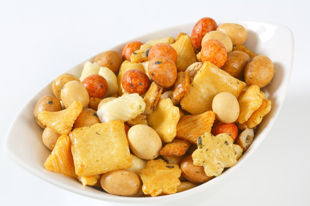 Arare - Japanese peanut and rice snack mix